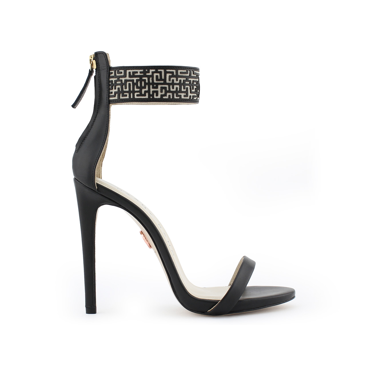 Xeneta Stiletto Sandals Black Main