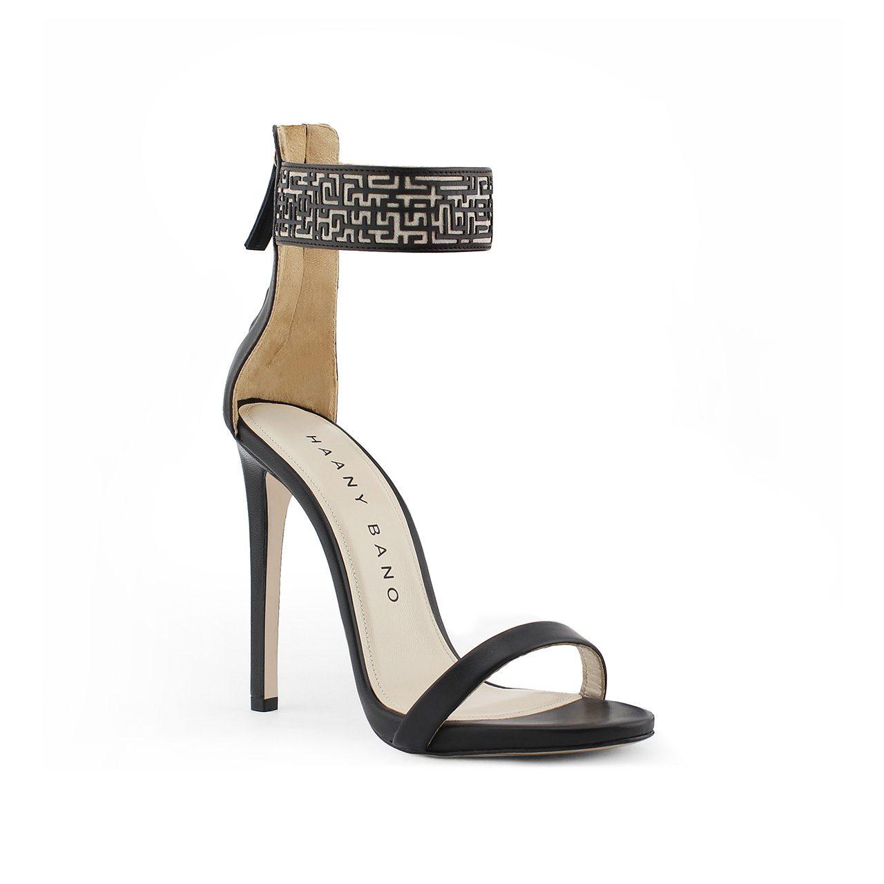 Xeneta Stiletto Sandals Black Profile